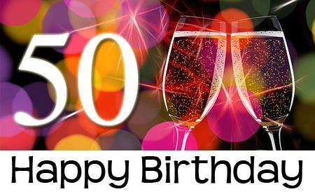Champagner zum 50. Geburtstag