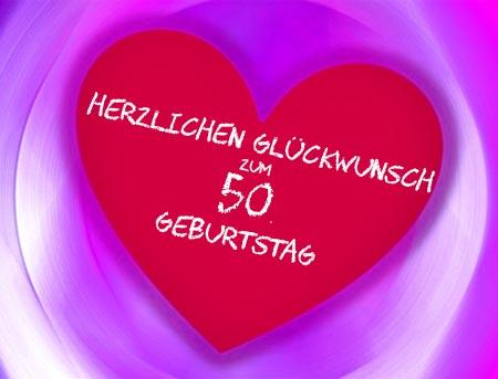 Herzliche Gl�ckw�nsche zum 50. Geburtstag
