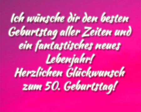 Pink und herzlich zum 50. Geburtstag