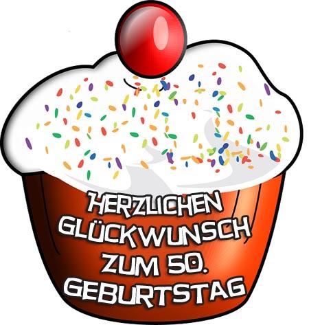 Cupcake zum 50. Geburtstag