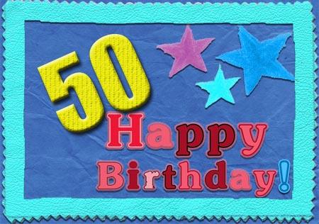 WhatsApp Gl�ckwunsch zum 50. Geburtstag aug Englisch