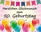 Bilder mit Spr�chen zum 50. Geburtstag