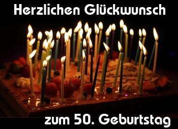 50. Geburtstag Glückwünsche für Mann