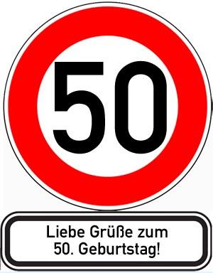 Gl�ckw�nsche zum 50. Geburtstag