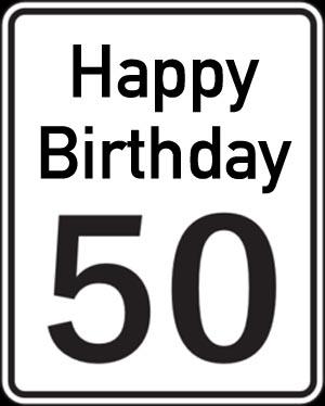 Englische Gl�ckw�nsche zum 50. Geburtstag