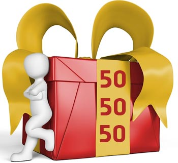 Geschenkideen f�r Frauen zum 50. Geburtstag