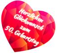 Gl�ckw�nsche zum 50. Geburtstag f�r Frauen