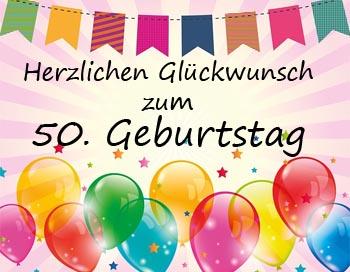 WhatsApp Gl�ckw�nsche zum 50. Geburtstag